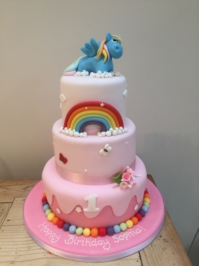 My Little Pony and Rainbow Cake